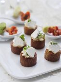 Marinated tuna stuffed with turnip cream and goat's cheese