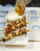 Grilled pork and lemon kebabs