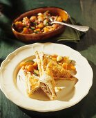 Meat pasties with carrots and courgettes
