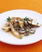 Chicken breast with mushroom and sherry sauce