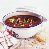 A pot of goulash