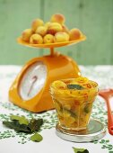 Apricot and ginger chutney