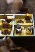Tree cake triangles and whisky cream sweets to give as a gift