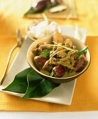Beef curry with Thai-style aubergines