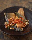 Pickled, sweet-sour fried mackerel fillets