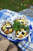Potatoes with feta and olives