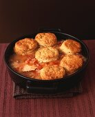 Chicken and bacon cobbler