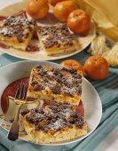 Mandarin crumble cake