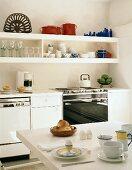 Breakfast table in kitchen