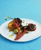 Peppers with fresh goat's cheese