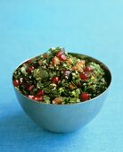 Tabbouleh with grapes and pomegranate seeds