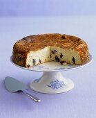 Raisin cheesecake