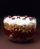Scottish trifle with raspberries and orange whisky cream