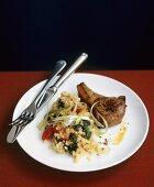 Lamb chop with bulgur risotto