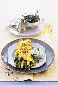 Asparagus in chervil omelette