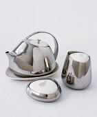 Stainless steel tea service