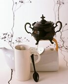 Unusual teacup and teapot