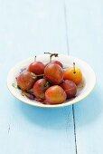 A plate of Ruth Gerstetter plums
