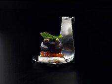 Tomato, mozzarella and balsamic vinegar (molecular gastronomy)