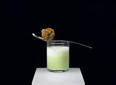 Green borscht with duck bitok