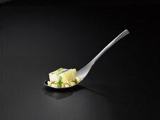 Sturgeon aspic and potatoes with cress