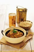 Indian chicken curry dish