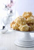Christmas profiteroles with sugar crystals