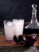 Lychee love lassi (lychee drink with vanilla vodka and amaretto)