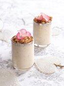 Nectarine-yogurt smoothie with amaretti