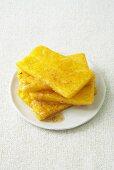 Fried polenta slices