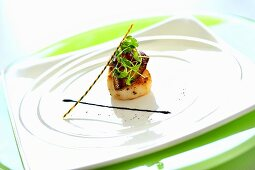 Scallop with goose liver and chilli & onion jam