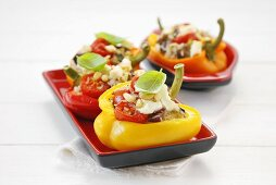 Vegetarian baked stuffed peppers