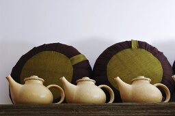 Three teapots