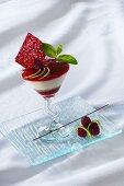 Layered jelly dessert (berry jelly)
