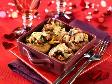 Baked, stuffed mushrooms (Galipette)