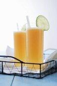 Lemonade with melon juice