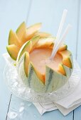 Charentais Melon Daiquiri in a melon