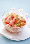 Watermelon and blood orange salad