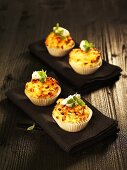 Onion and bacon muffins with marjoram