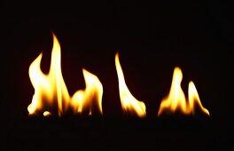 Flames against black background