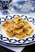 Baklava (Filo pastry with honey and nut filling, Greece)