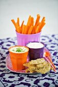 Crudités with dips