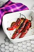 Grilled chillies
