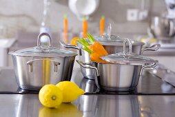 Pans, carrots and lemons