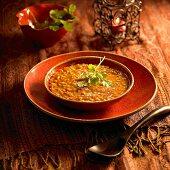 Harira (Ramadan soup with chick-peas, Morocco)