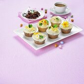 Cupcakes and chocolate crispies for Easter