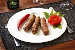 Lamb seekh kebab, Northern India