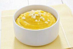Pumpkin puree with garlic
