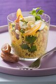 Curried couscous with nuts