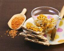 Lentil paste with sunflower seeds